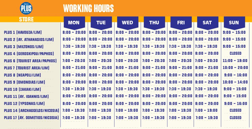 Limassol Working Hours